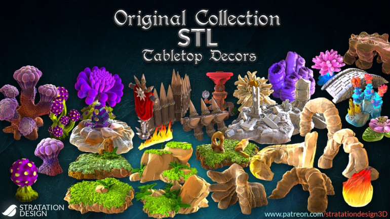 Original Collection of STL Tabletop Decors