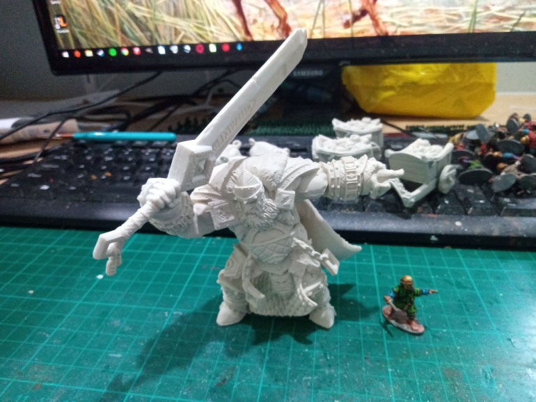 Dry Fit just for scale. All parts were Primed with Wraithbone Spray