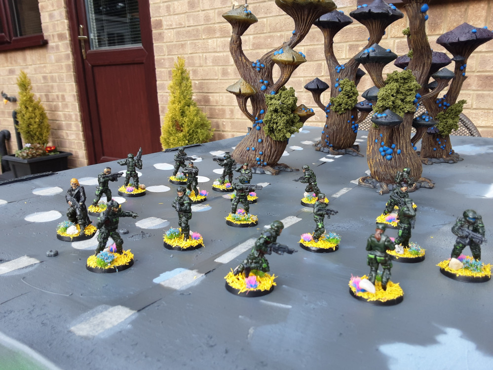 Sci Fi trees and Miniatures for Stargrave