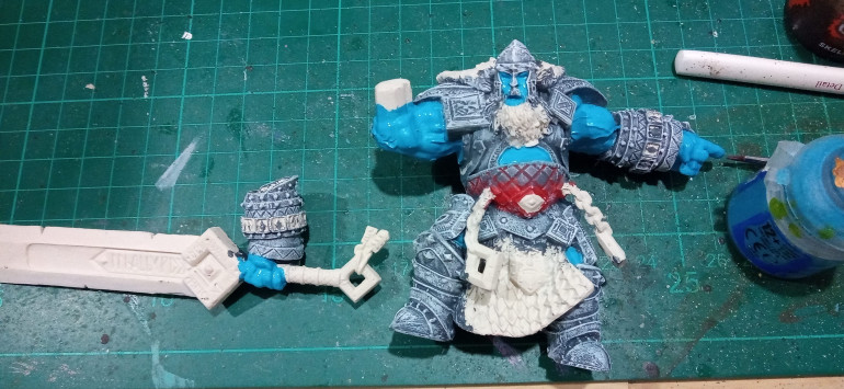 The Flesh was given a coat of Lothern Blue