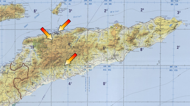 Area of Operations - East Timor 2006/07