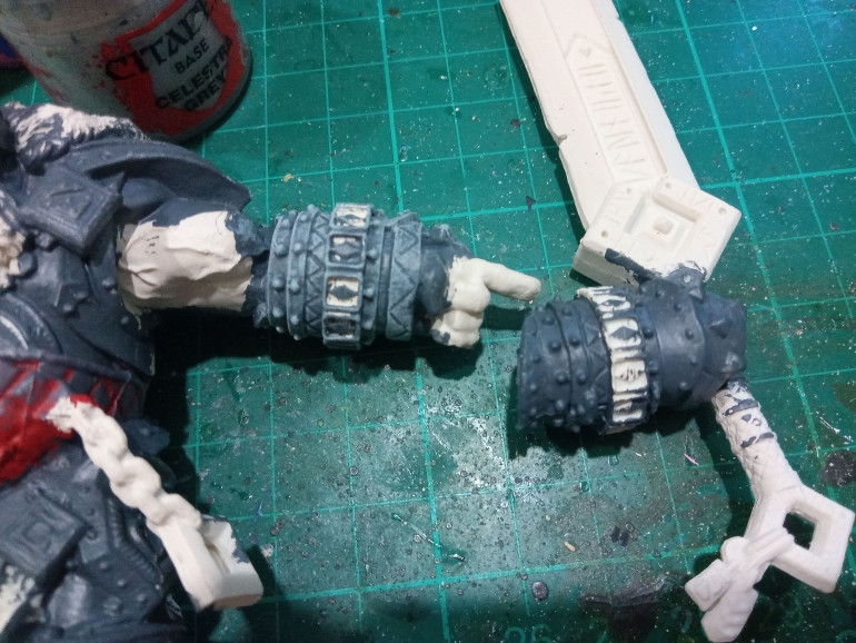 The Trial of a Drybrush of Celestra Grey