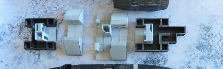 Top deck. All the internal parts are printed and some even have primer on them already. I may still change how the rooms are arranged, but I'll write more about it in one of the next entries.