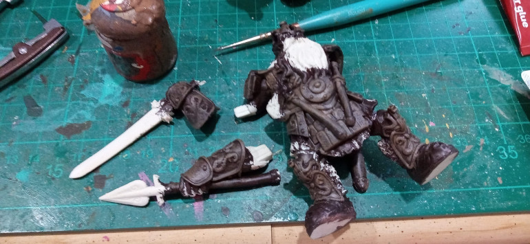 Then a drybrush of a lighter Brown over the top