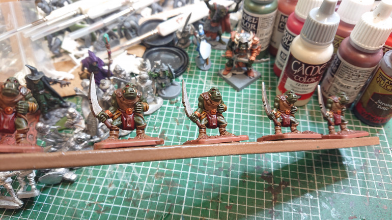 Some newly washed orcs