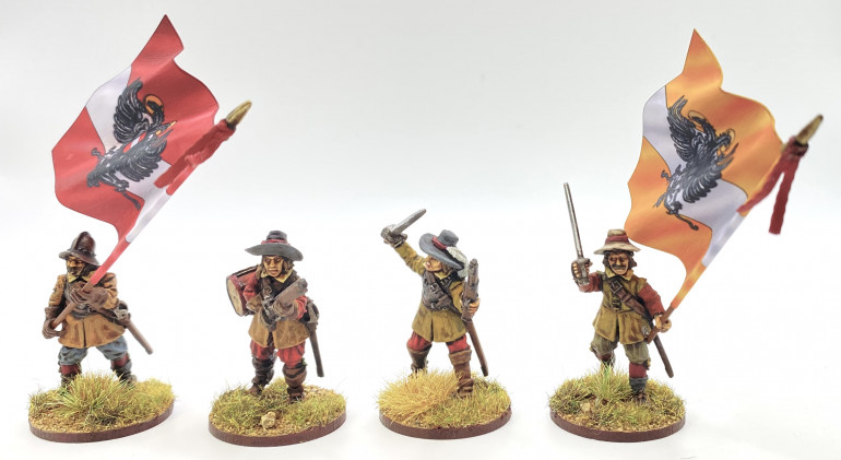 The first four figures from Bloody Miniatures on my painting table
