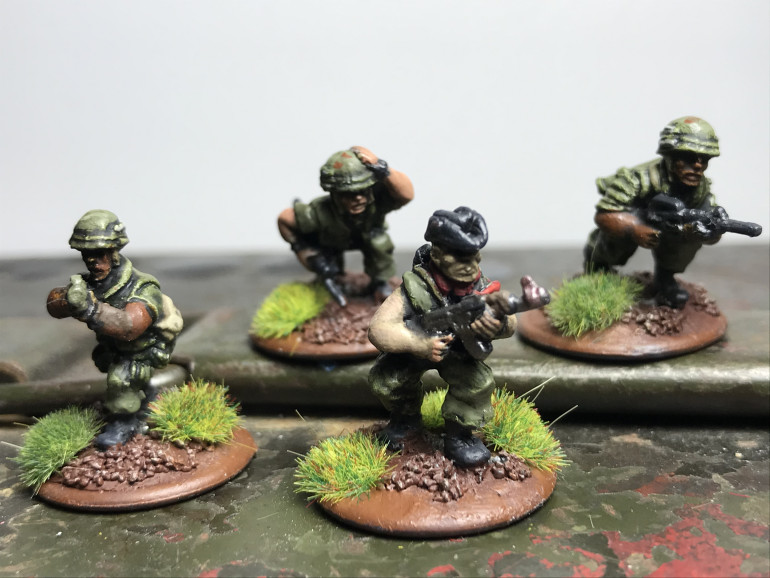 Point team including m79 grenade launcher and pointman