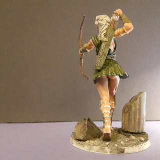 Challenge 3: Painting Artemis using the Zorn Limited Palette plus Emerald Green.