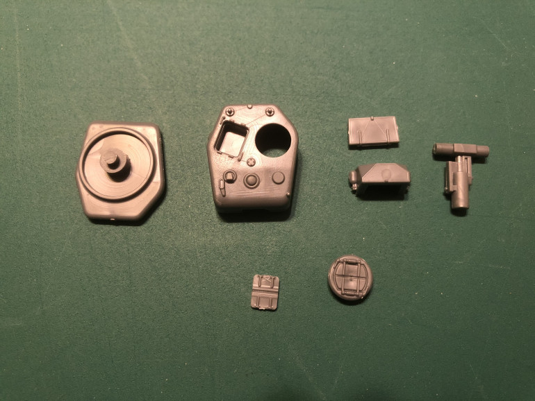 Parts of the MkIV cast turret