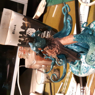 Challenge 4: Painting Poseidon using Limited Zorn Palette plus Green & Blue: Part One