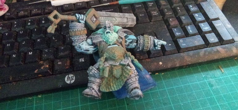 The Finished Frost Giant. I gave the skin a slightly lighter layer of Blue just to make the muscle stand out