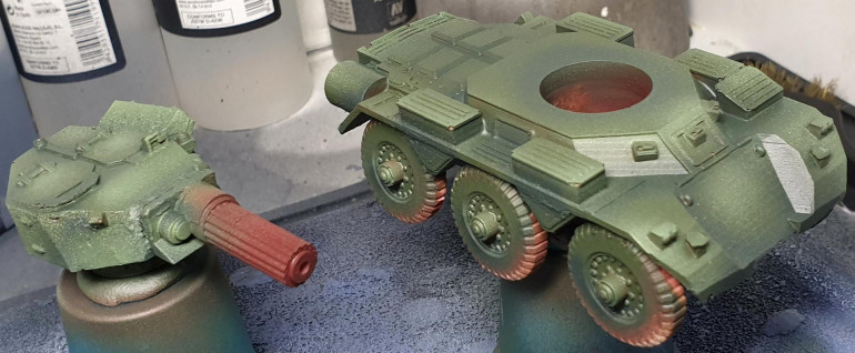 Saladin Armoured Car for Dust Warfare