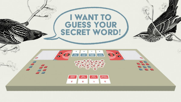 Create Words and Evade Your Opponent's Guesses in A Little Wordy by Exploding Kittens