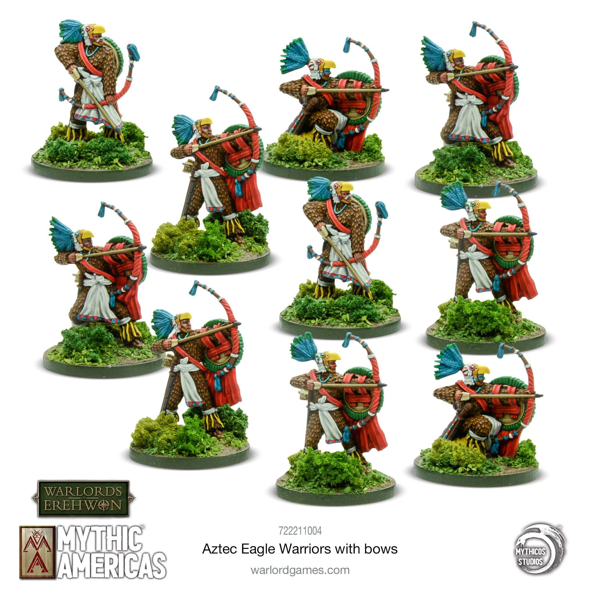 Eagle Warriors With Bows - Mythic Americas