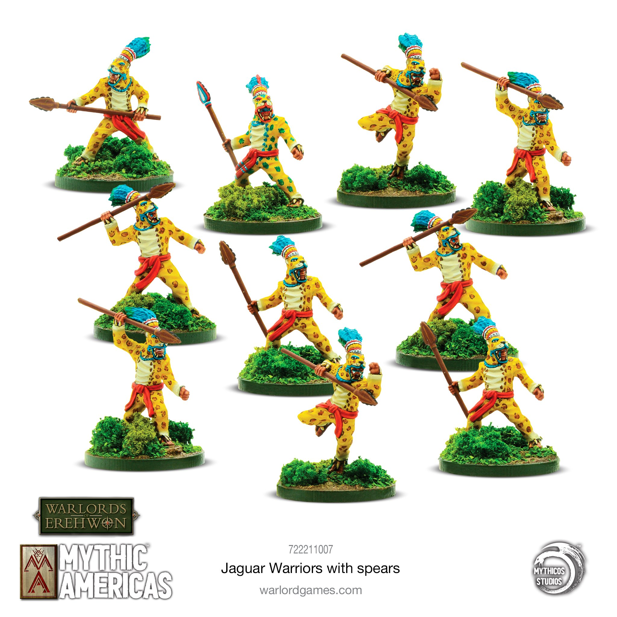 Jaguar Warrriors With Spears - Mythic Americas
