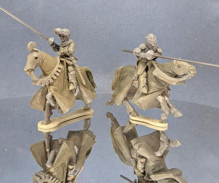 Mounted Knights With Lances #1 - Claymore Castings