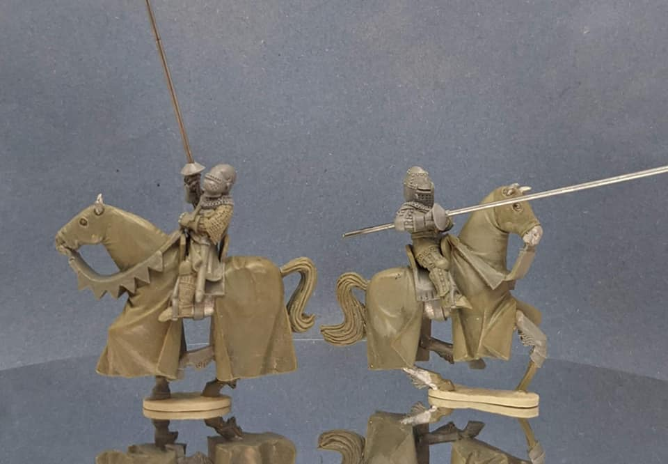Mounted Knights With Lances #2 - Claymore Castings