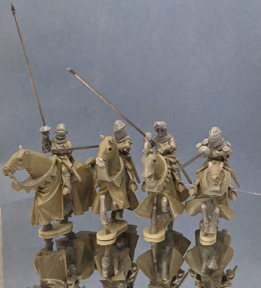 Mounted Knights With Lances #3 - Claymore Castings