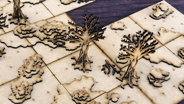 Check Out PWork Wargames' New MDF RPG Fantasy Tiles!