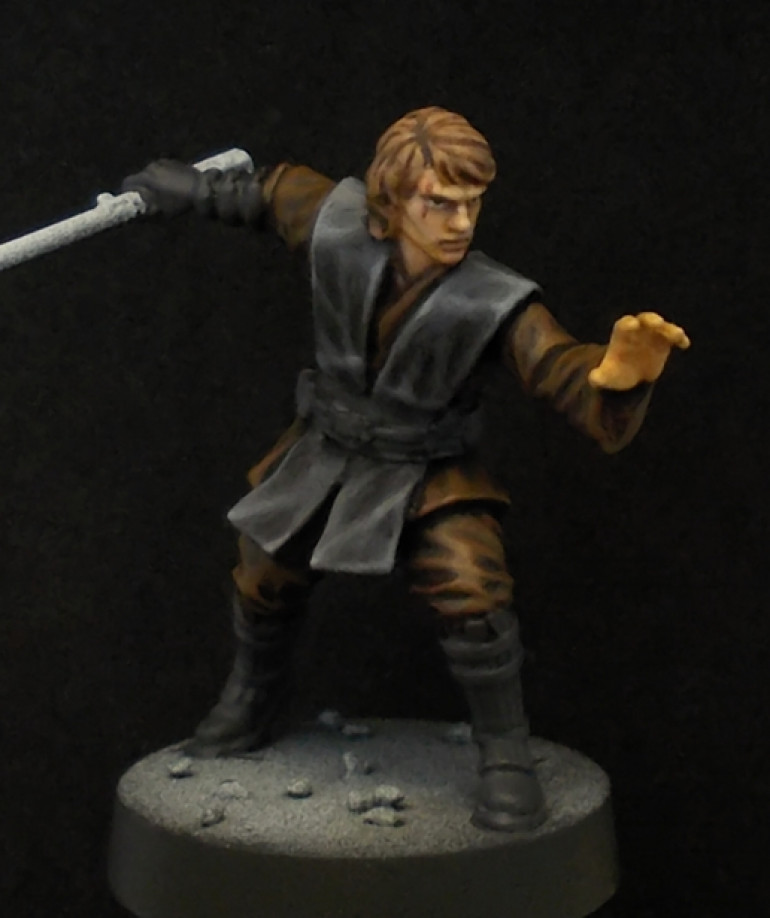 Painting Anakin's clothes