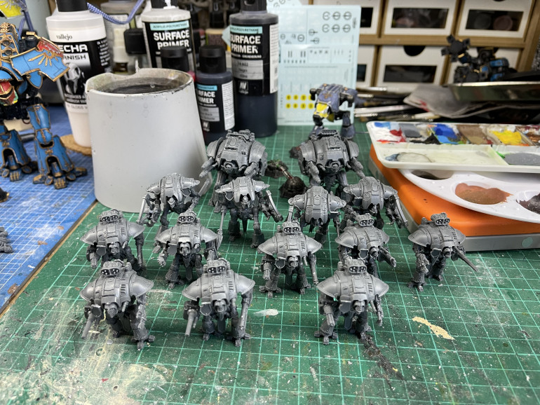 Knights as far as the eye can see
