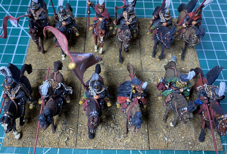 Whole unit with dry brushed, sand covered bases.