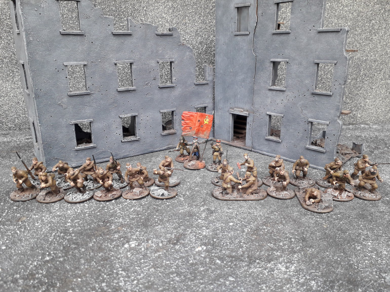 Strafbat Platoon with two squads and a 'Frontnik Commissar'.