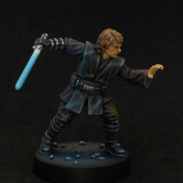 My process of and thoughts on painting OSL-effects, exemplified by my finished Anakin Skywalker