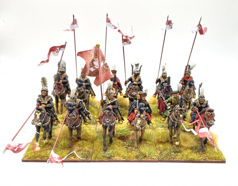 The latest banner of Hussars gallop from the paining table - TAG and Foundry 28mm