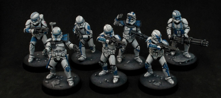 The first squad of individual clones is done!