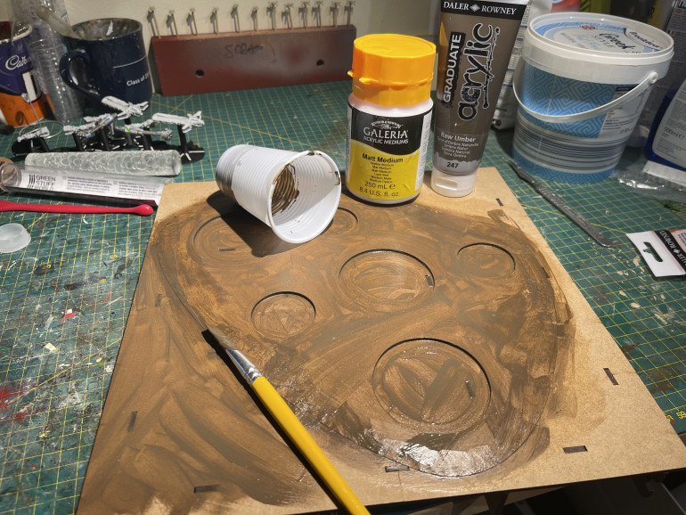 Raw umber is the brown of choice