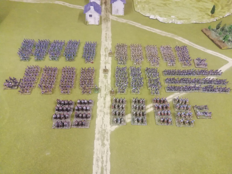 Adding my last unit to the now complete army. It doesn't really look like it but it's over 1000 minis. This project has taken a year. Just need to finish a few pieces of scenery and hope to play it in june