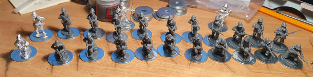 They are all mounted on 25mm washers