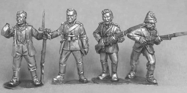 Private Henry Hook, Chard, Bromhead  and Colour Sargeant Bourne