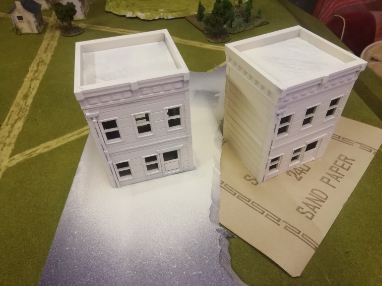 Now I have two complete buildings to add to my ruin. I want to keep these in a relatively good shape sini can use them in pulp games