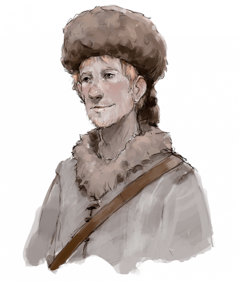 Tibor Wester, Foreman of the loggers camp, andhalf-brother to Townmaster Harbin Wester