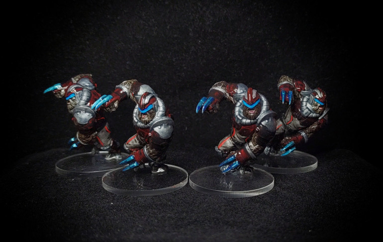Alpha Simians painted by Paul