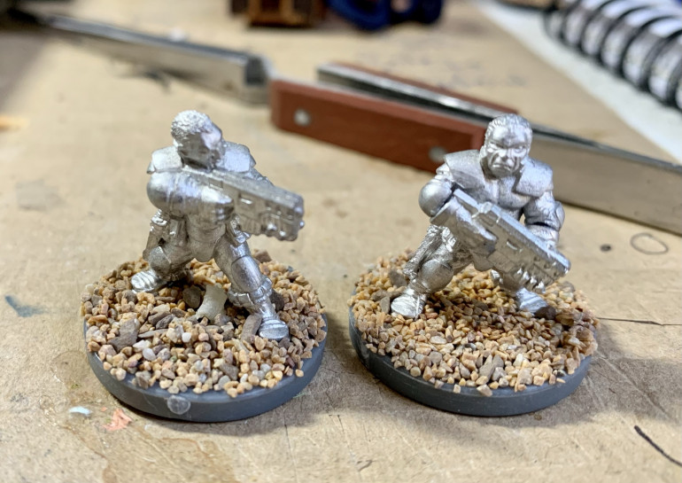 First up im going to get to work on the two makeshift militia. Im also eyeing these up for use in Stargrave so keen to get them done!