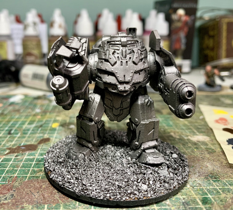 Time to get the Iron Ancestor ready. He's been sitting around gathering dust for years. Feels good to finally get him done!