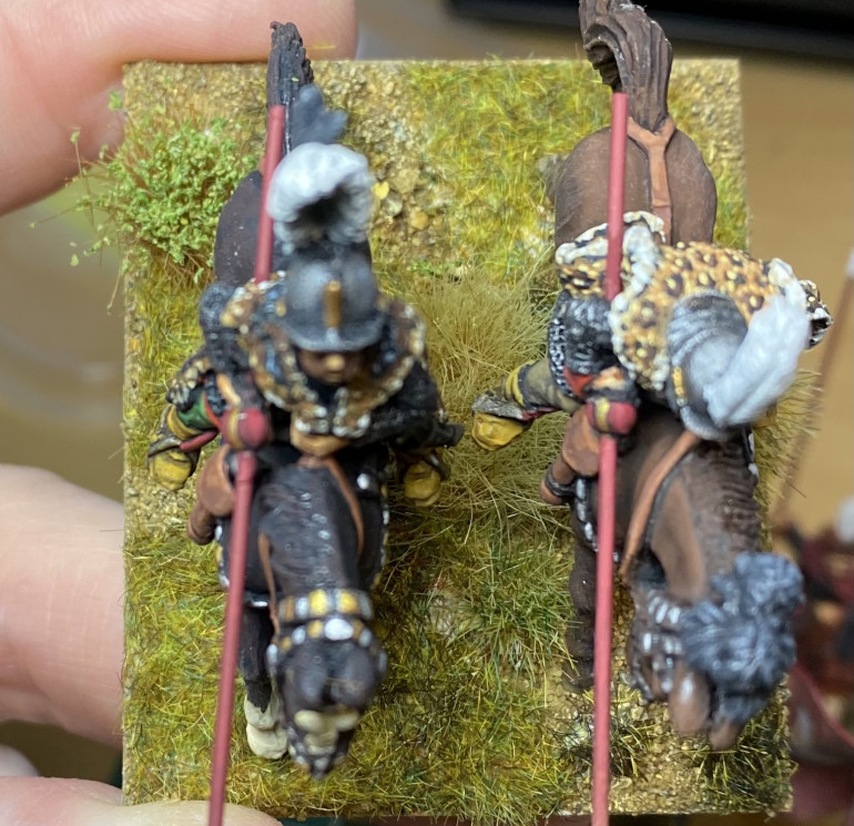 Base with static grass and tufts added.
