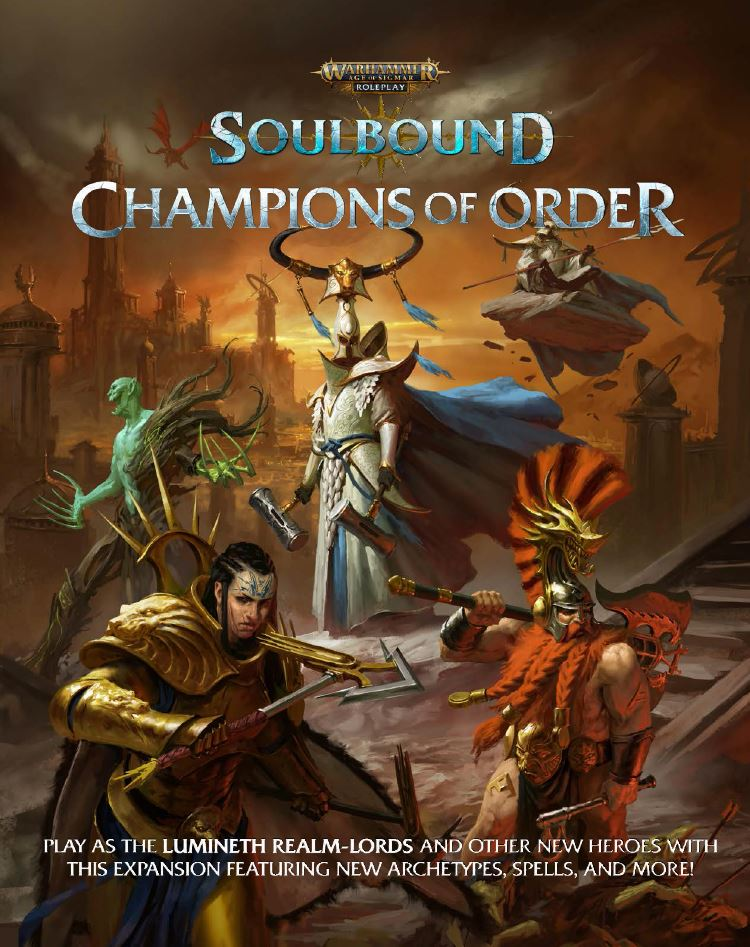 Champions Of Order Cover - Age Of Sigmar Soulbound