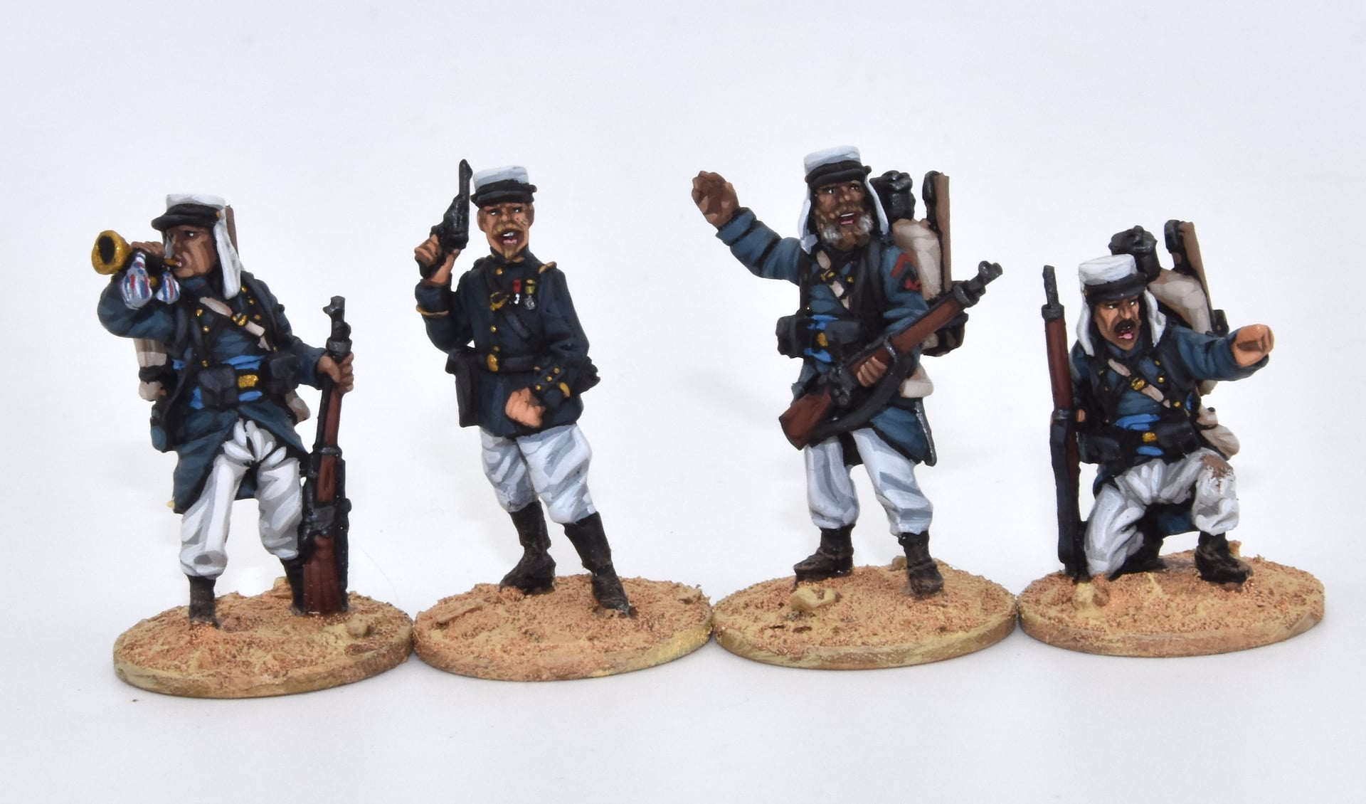 French Foreign Legion Command Fighting - 1898 Miniaturas