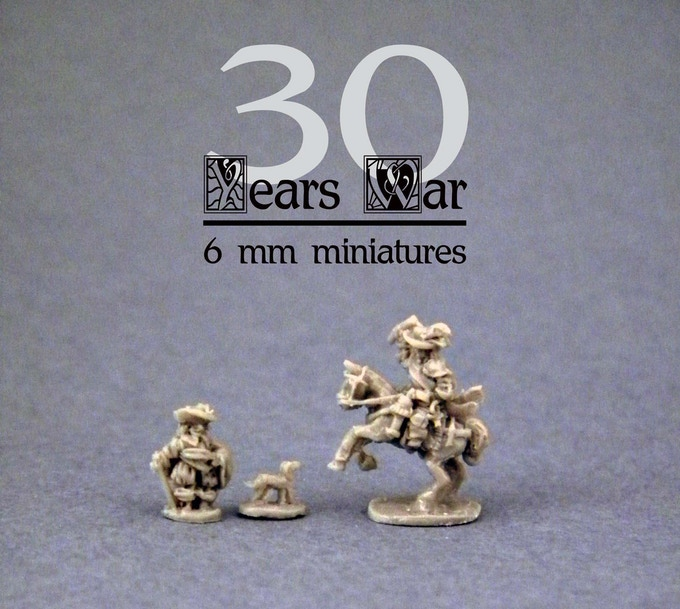 General Mounted & On Foot - 6mm Combat Miniatures