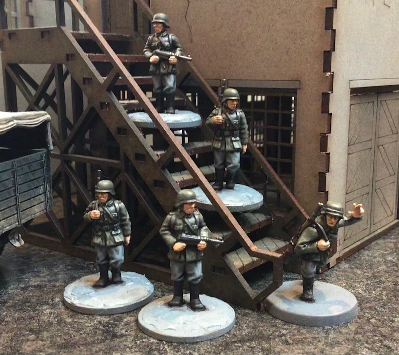 German Sentries Painted - Grey For Now Games