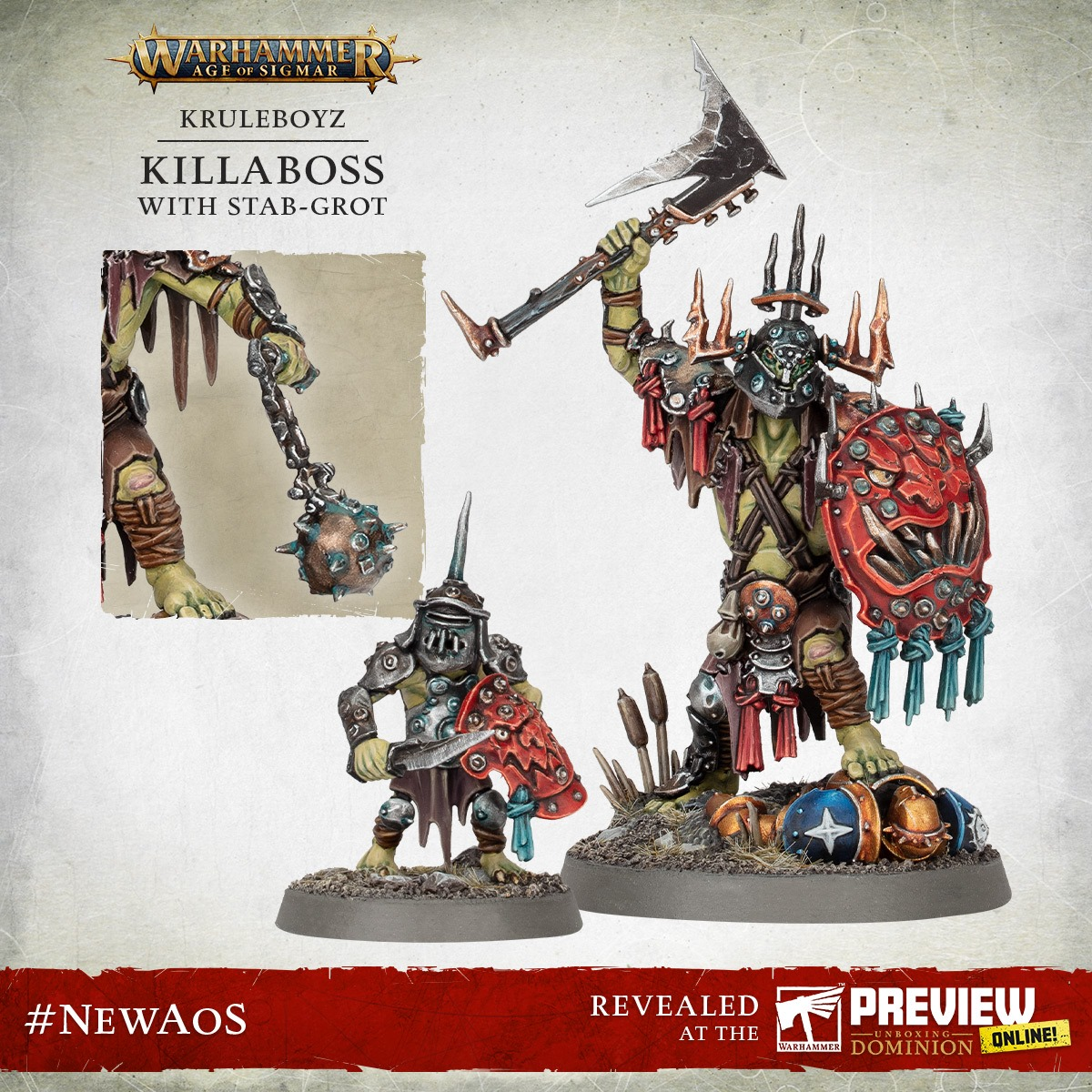 Killaboss With Stab-Grot - Warhammer Age Of Sigmar