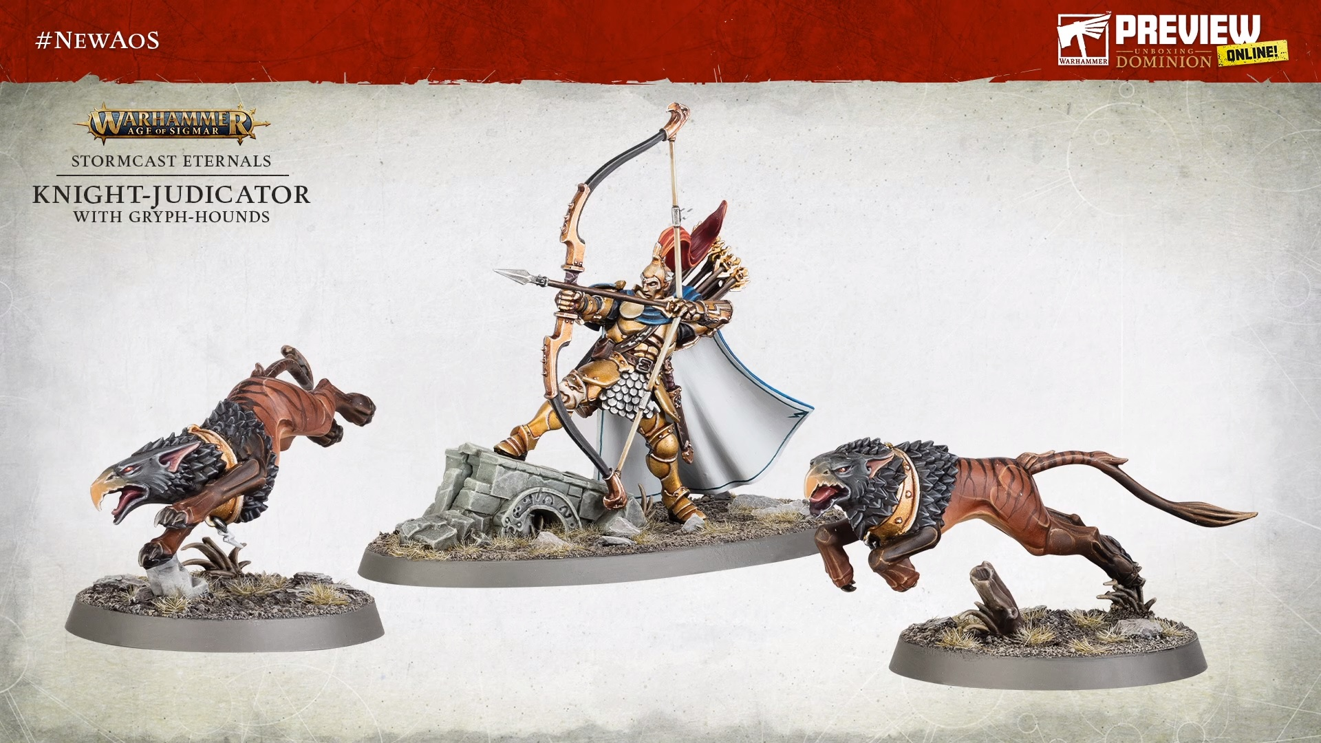 Knight-Judicator With Gryph-Hounds - Warhammer Age Of Sigmar