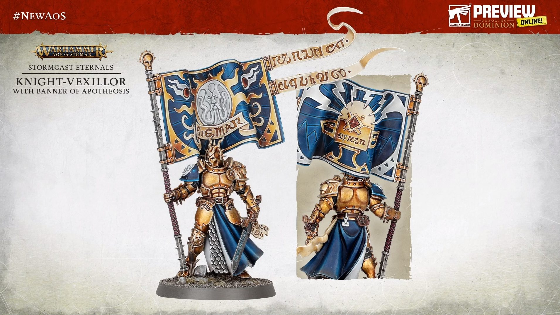 Knight-Vexillor With Banner Of Apotheosis - Warhammer Age Of Sigmar