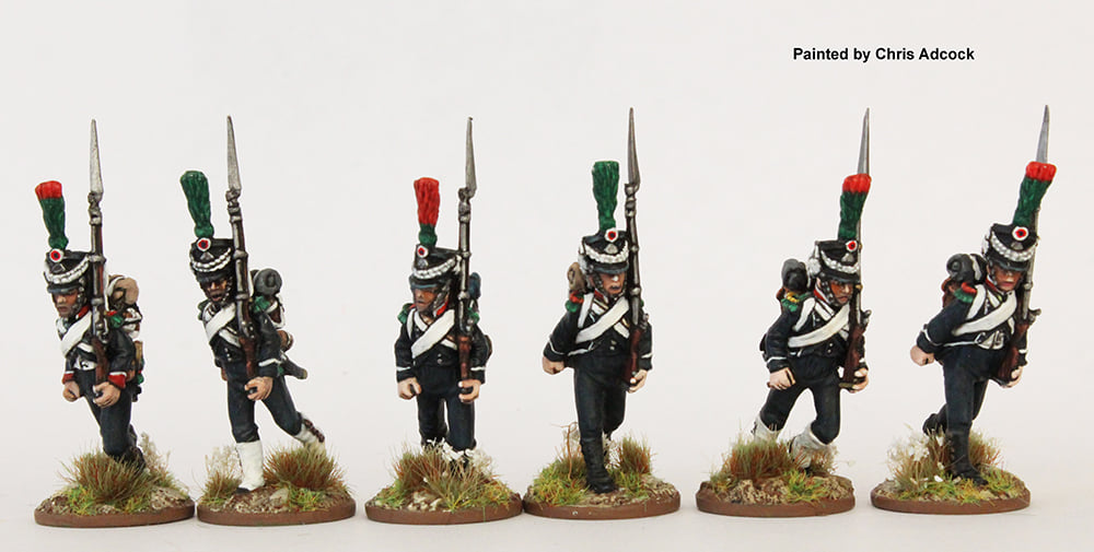 Light Infantry Chasseurs Running - Perry Miniatures