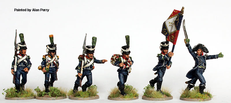Light Infantry Command Running - Perry Miniatures