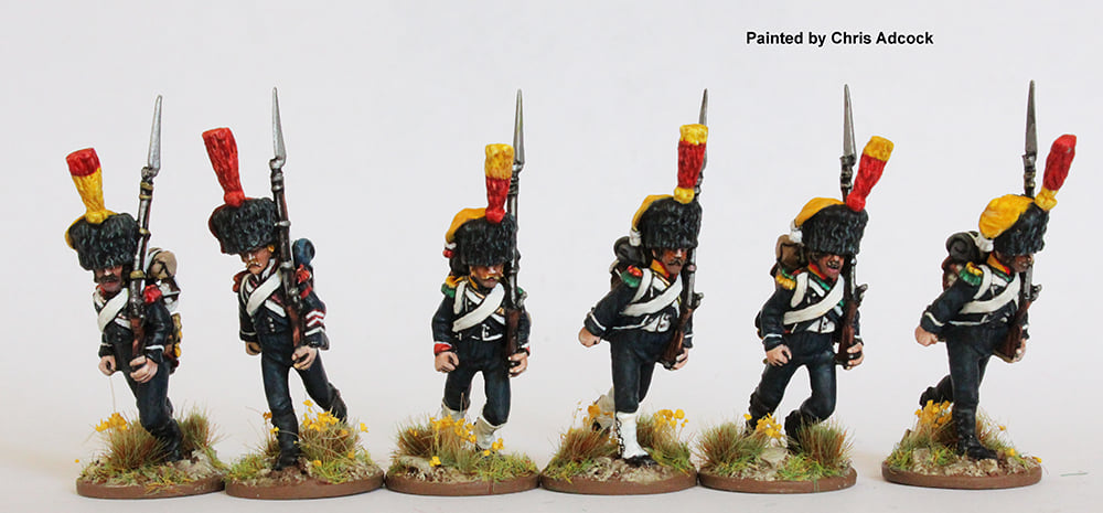 Light Infantry Voltigeurs Carabiniers Running - Perry Miniatures